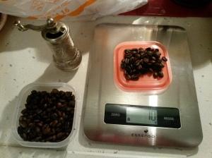kahve tartımı